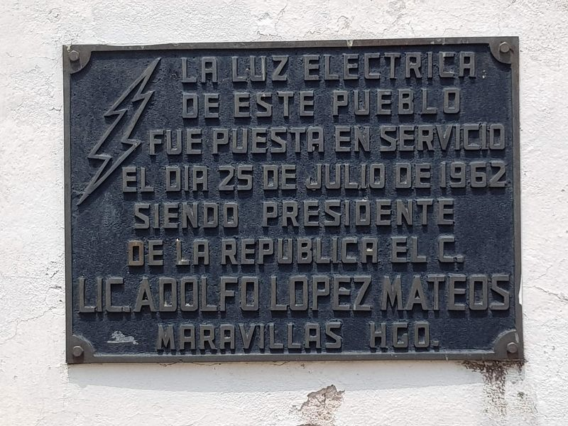 Electricity in Maravillas, Hidalgo Marker image. Click for full size.
