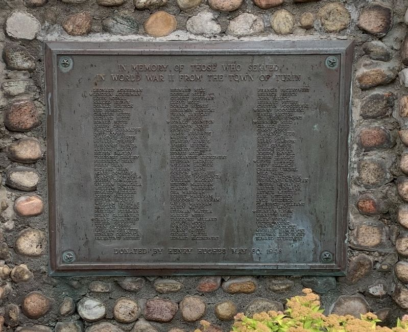 Town of Turin WW II Memorial image. Click for full size.