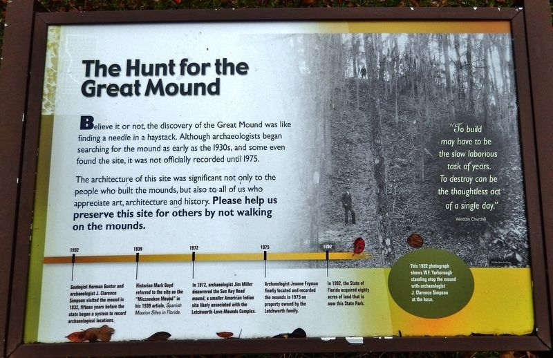The Hunt for the Great Mound Marker image. Click for full size.
