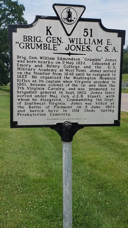 Brig. Gen. William E. Marker image. Click for full size.