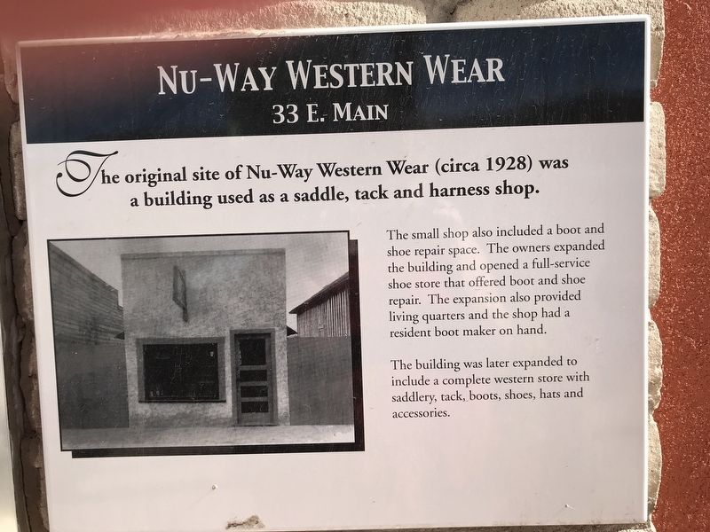Nu-Way Western Wear Marker image. Click for full size.