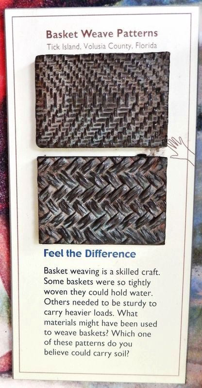Marker detail: Basket Weave Patterns<br>(Tick Island, Volusia County, Florida) image. Click for full size.