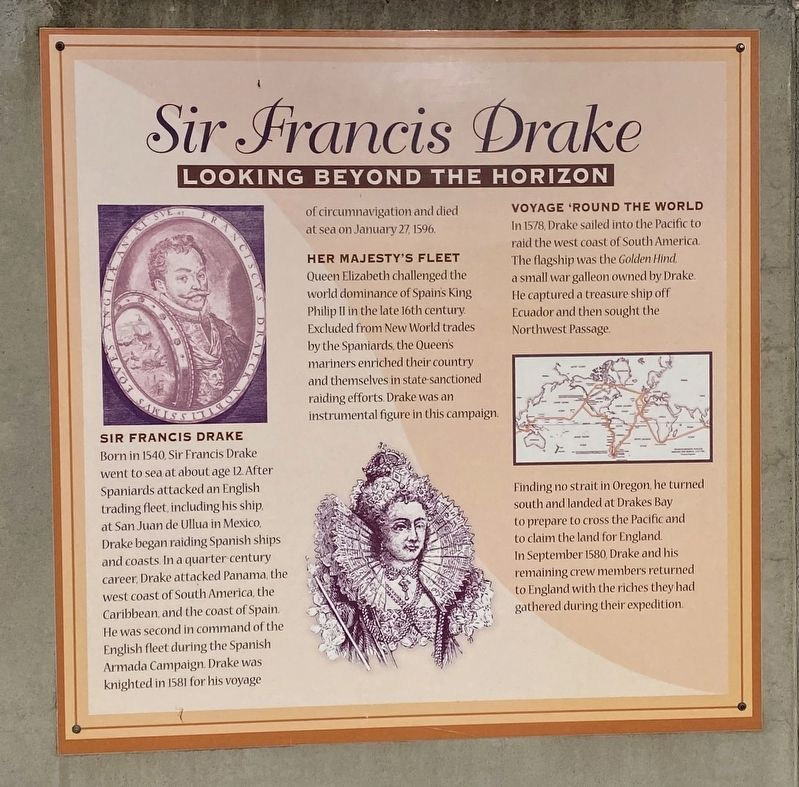 Sir Francis Drake Marker image. Click for full size.