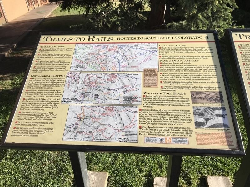 Trails to Rails Marker image. Click for full size.