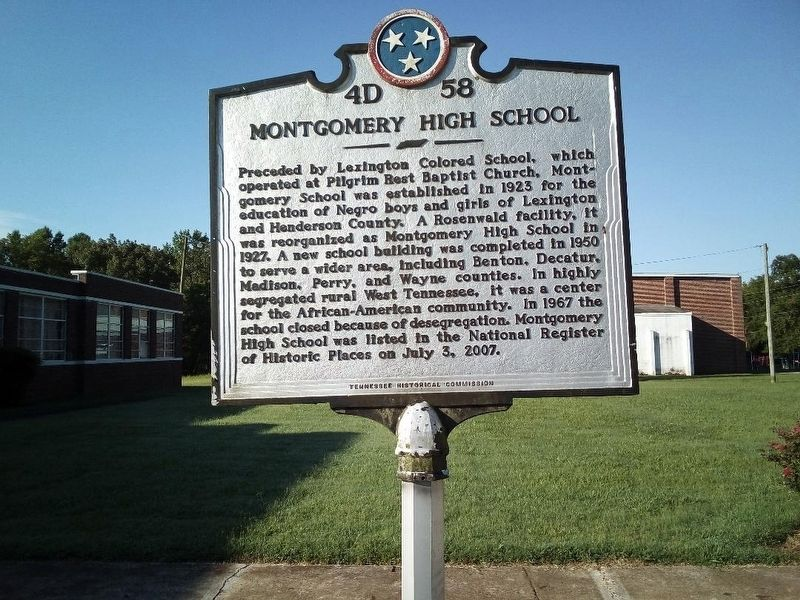 Montgomery High School Marker image. Click for full size.