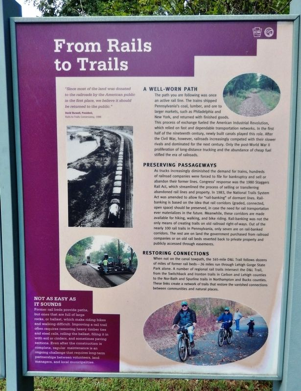 From Rails to Trails Marker image. Click for full size.