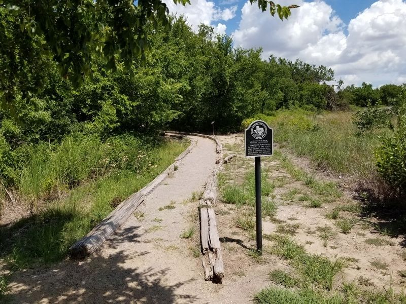 133 Yards East to Site of Historic Cottonwood Marker image. Click for full size.