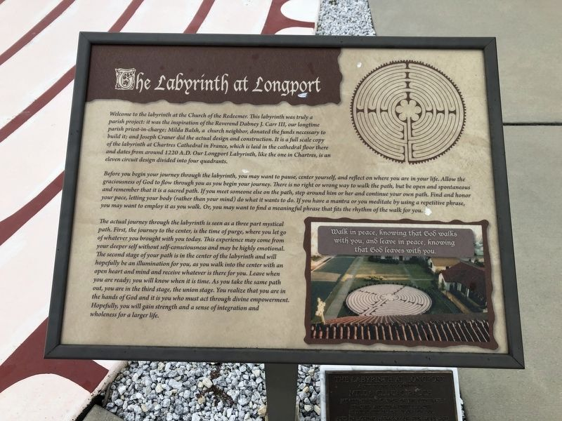 The Labyrinth at Longport Marker image. Click for full size.