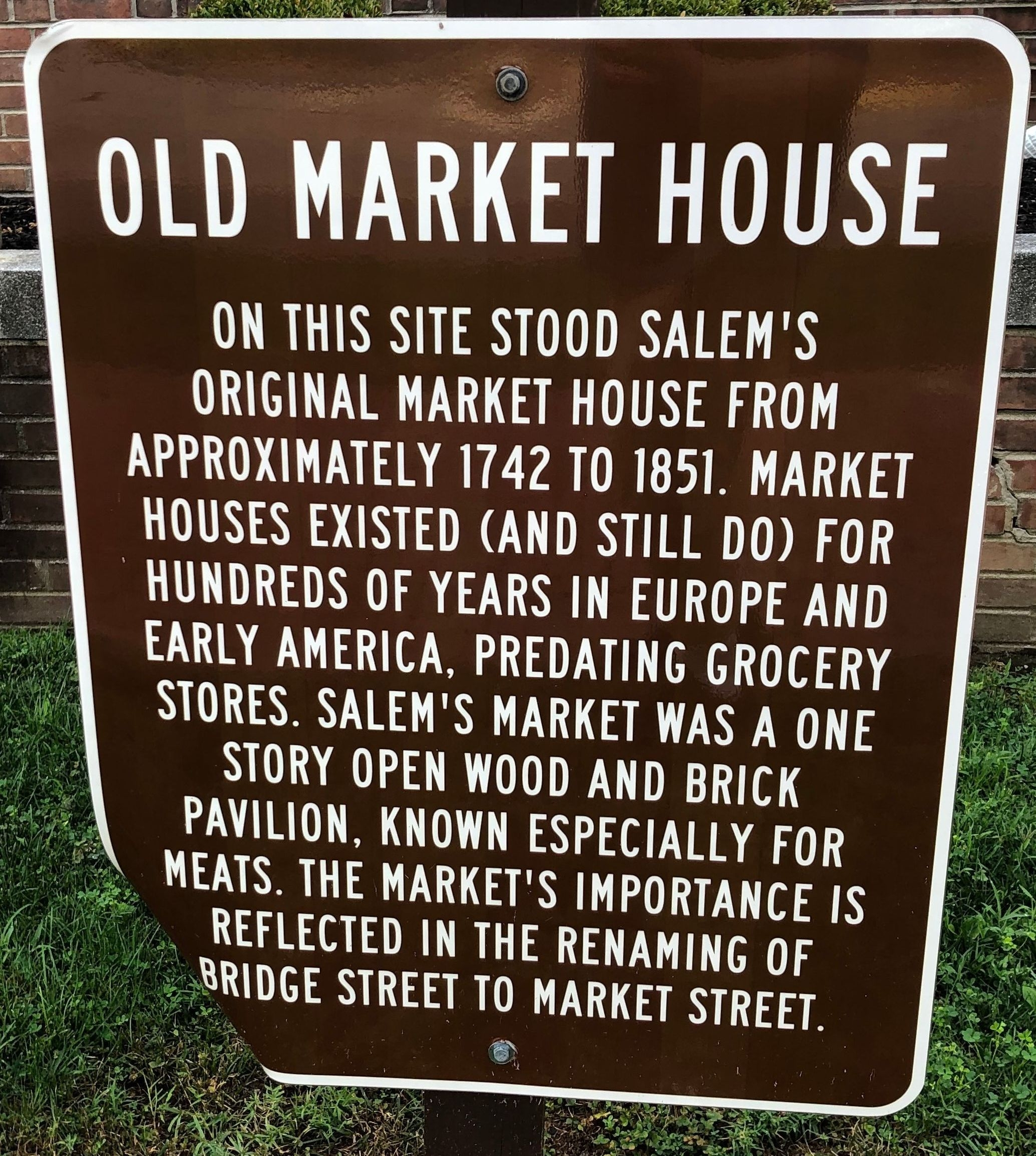 Old Market House Marker