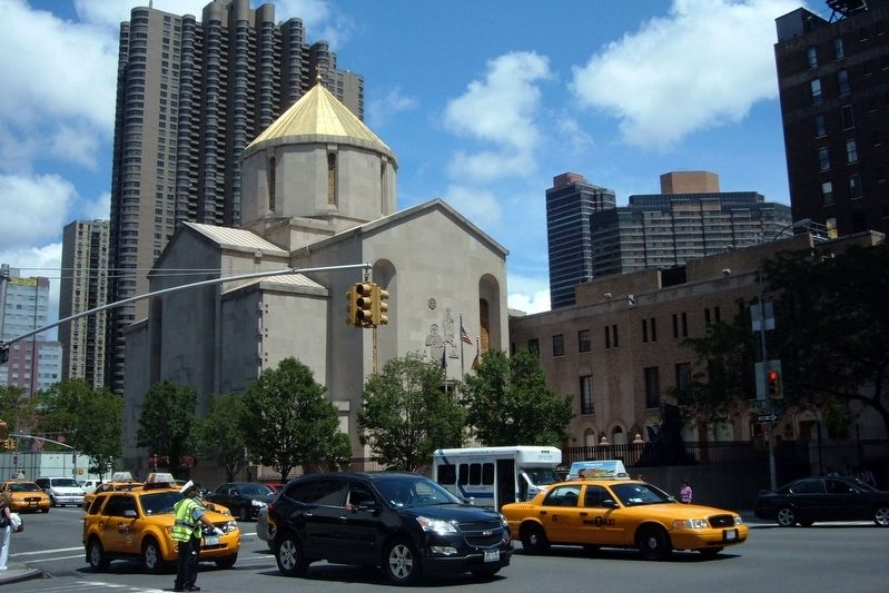 St. Vartan Cathedral of the Armenian Orthodox Church and complex, 630 Second Avenue image. Click for full size.
