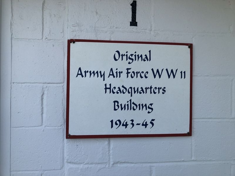Original Army Air Force WWII Headquarters Building Marker image. Click for full size.