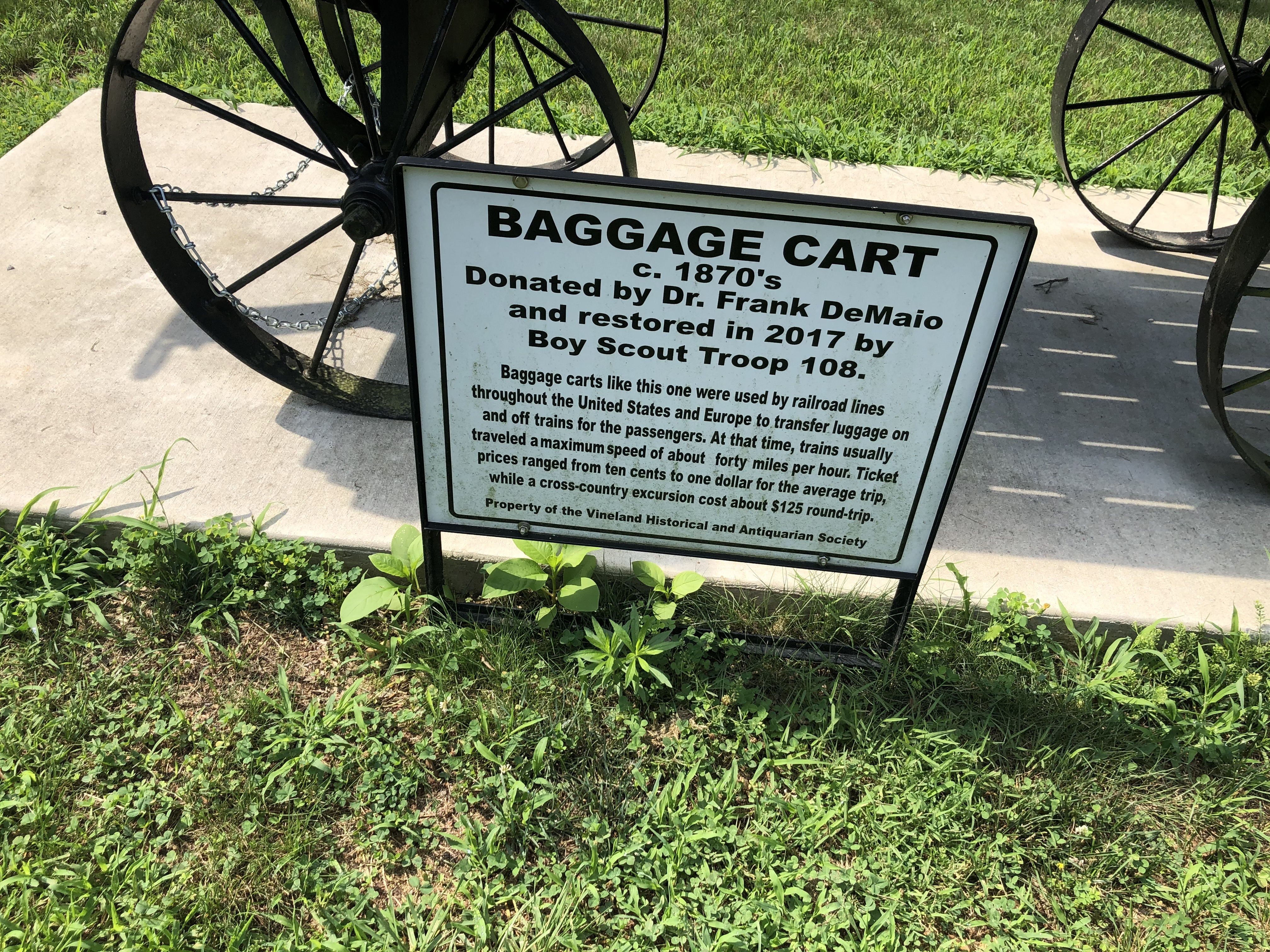 Baggage Cart Marker
