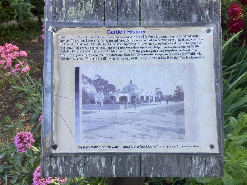 Garden History Marker image. Click for full size.