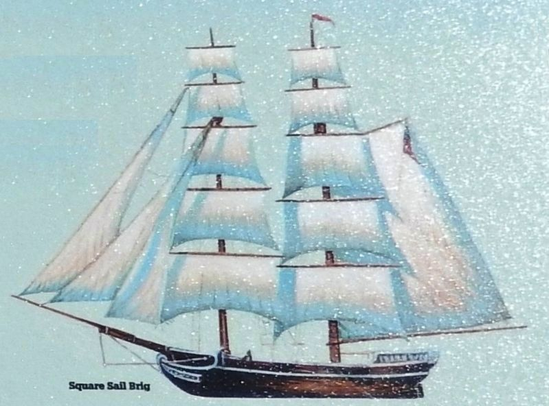 Marker detail: Square Sail Brig image. Click for full size.