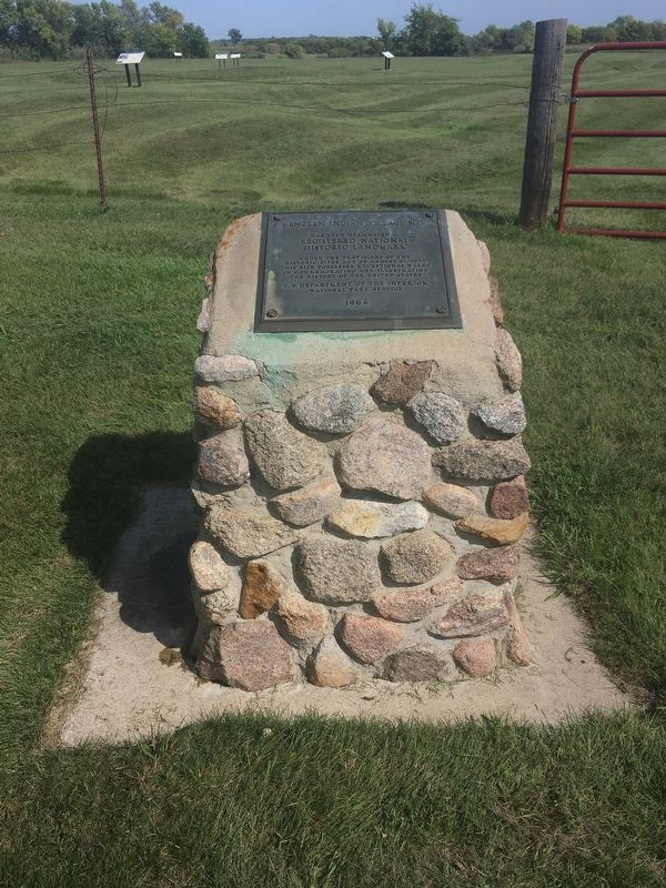 Menoken Indian Village Site Marker image. Click for full size.