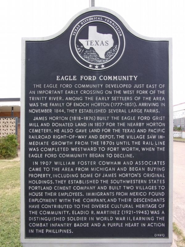 Eagle Ford Community Marker image. Click for full size.
