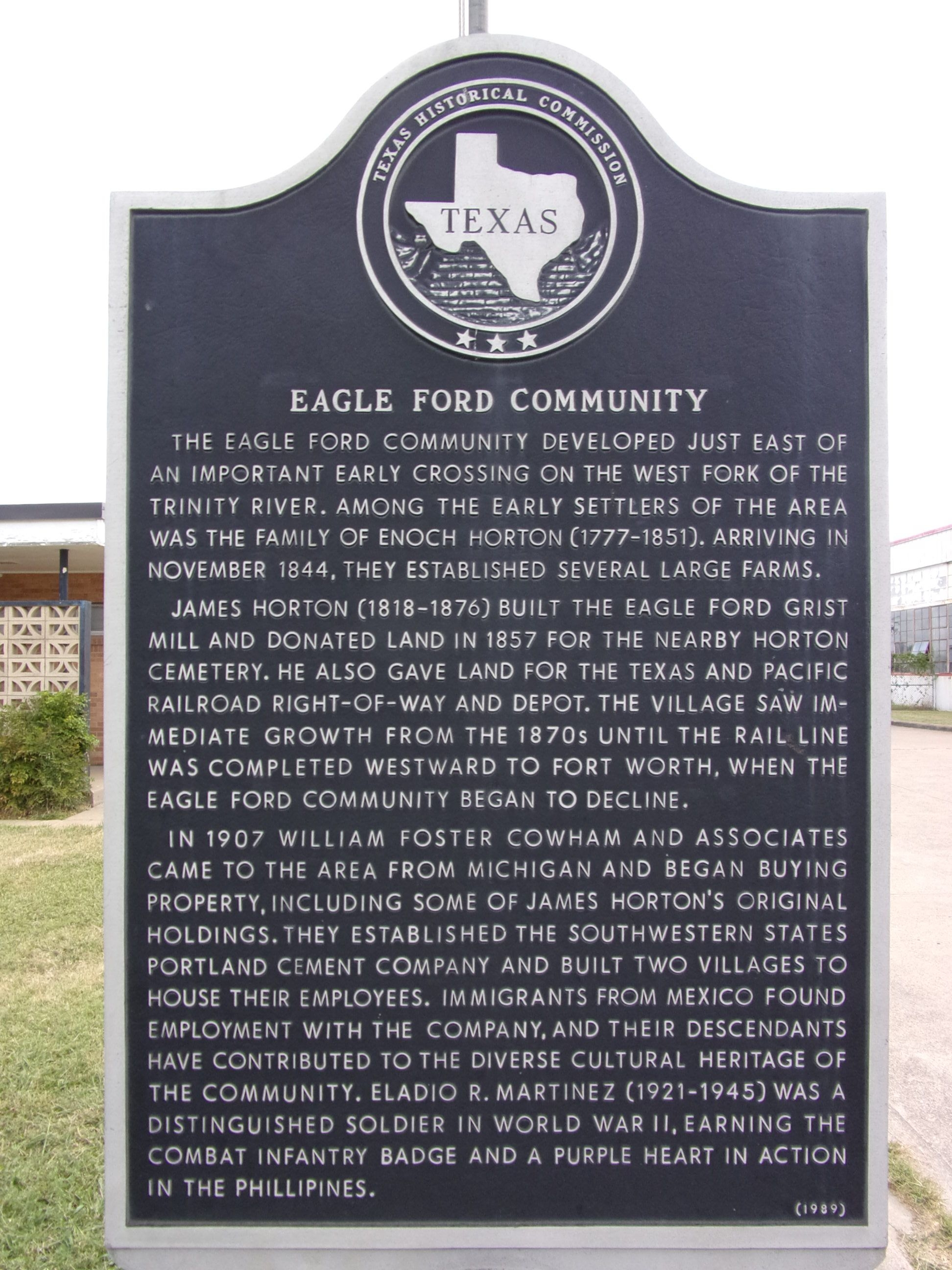Eagle Ford Community Marker