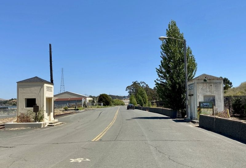 Sentry Houses A272 (right) and A279 (left), looking south on Azuar Avenue image. Click for full size.