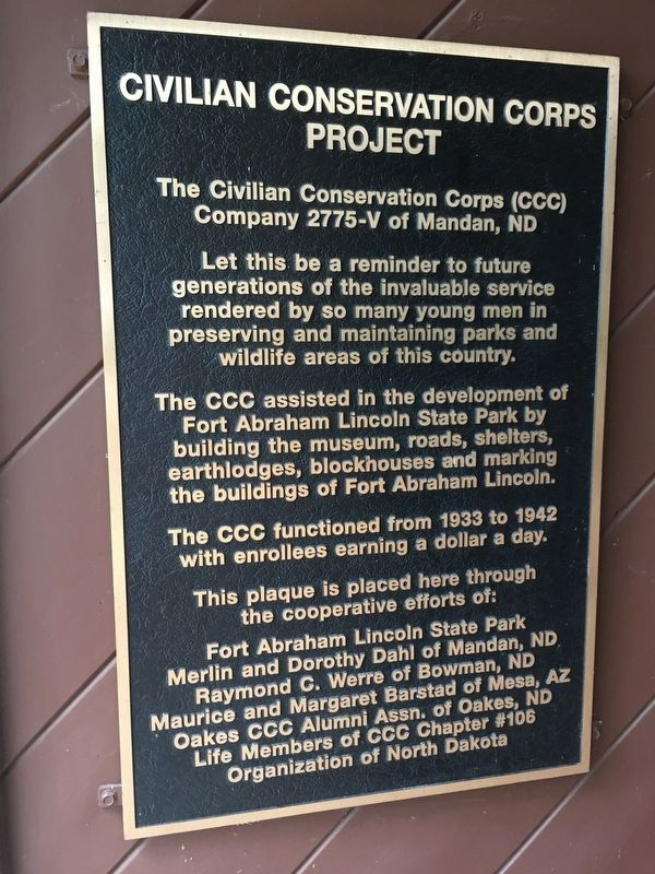 Civilian Conservation Corps Project Marker image. Click for full size.