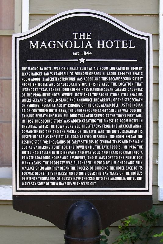 The Magnolia Hotel Marker image. Click for full size.