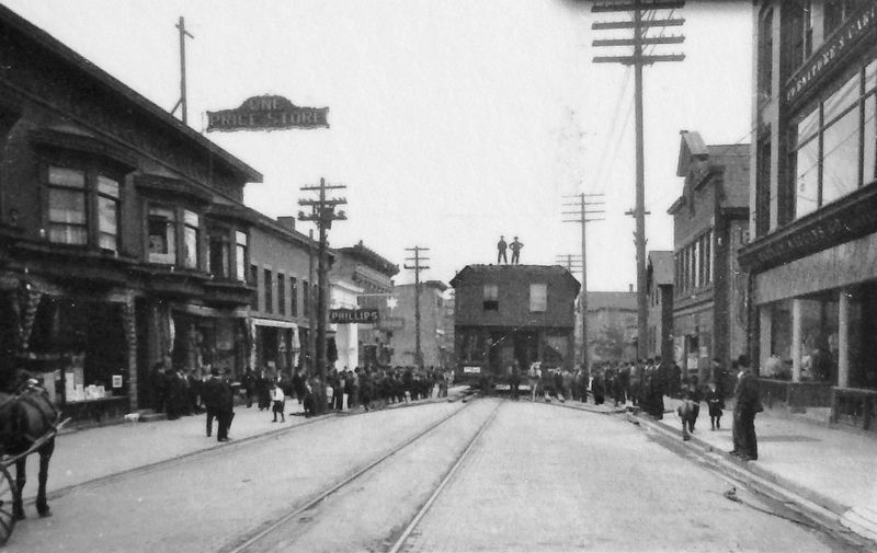 Marker detail: Moving down Shelden Avenue, c.1900 image. Click for full size.