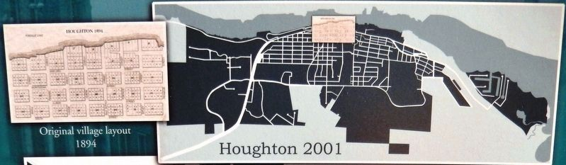 Marker detail: Houghton layout 1894-2001 image. Click for full size.
