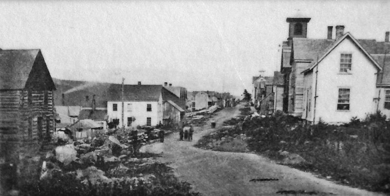 Marker detail: West end of Shelden Avenue, 1870s image. Click for full size.