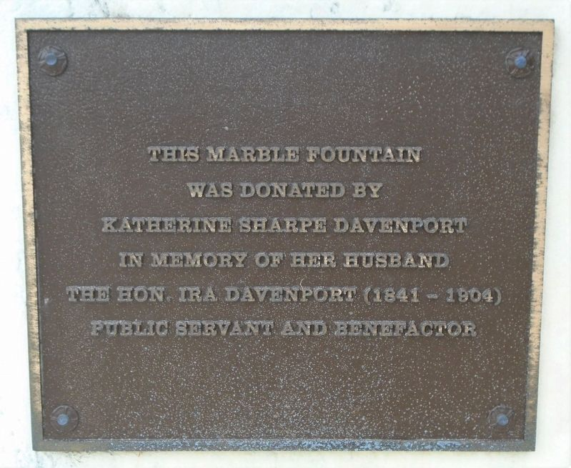 Davenport Fountain Marker image. Click for full size.