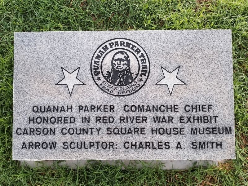 Quanah Parker Trail 54 Marker image. Click for full size.