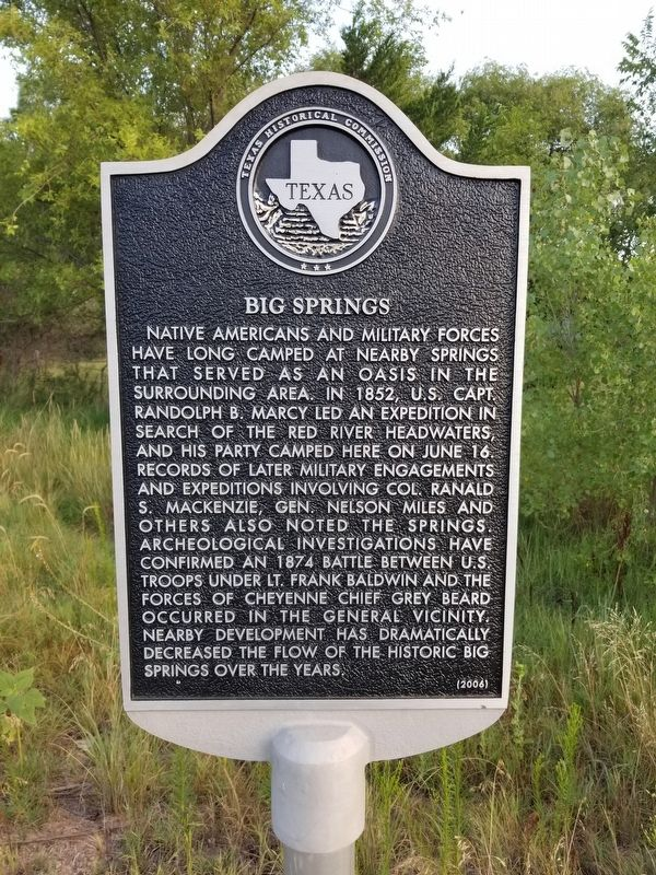 Big Springs Marker image. Click for full size.