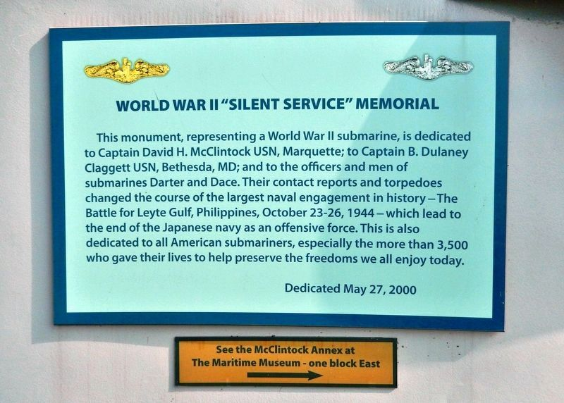 "World War II ""Silent Service"" Memorial Marker image. Click for full size."