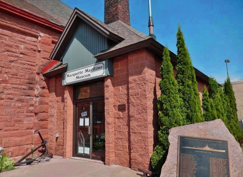Marquette Maritime Museum entrance image. Click for full size.