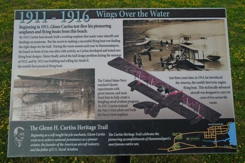 1911 - 1916 Wings Over the Water Marker image. Click for full size.