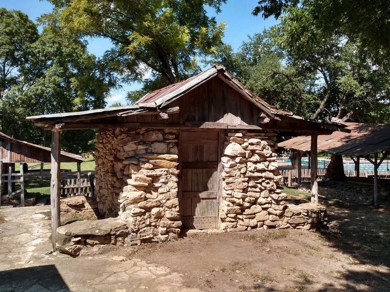 Smokehouse - One of several outbuildings on display image. Click for full size.