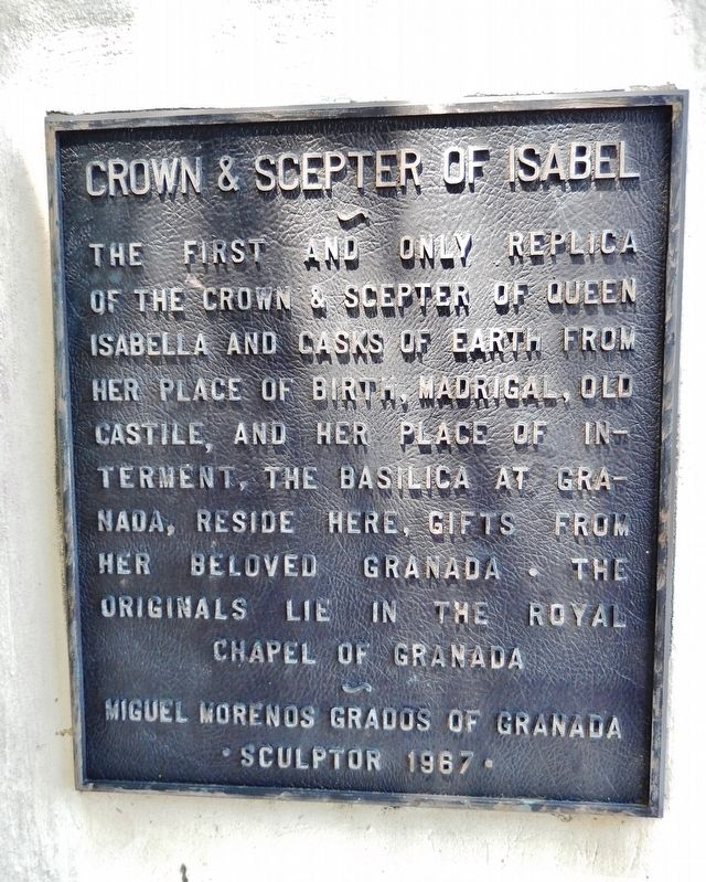 Crown & Scepter of Isabel Marker image. Click for full size.