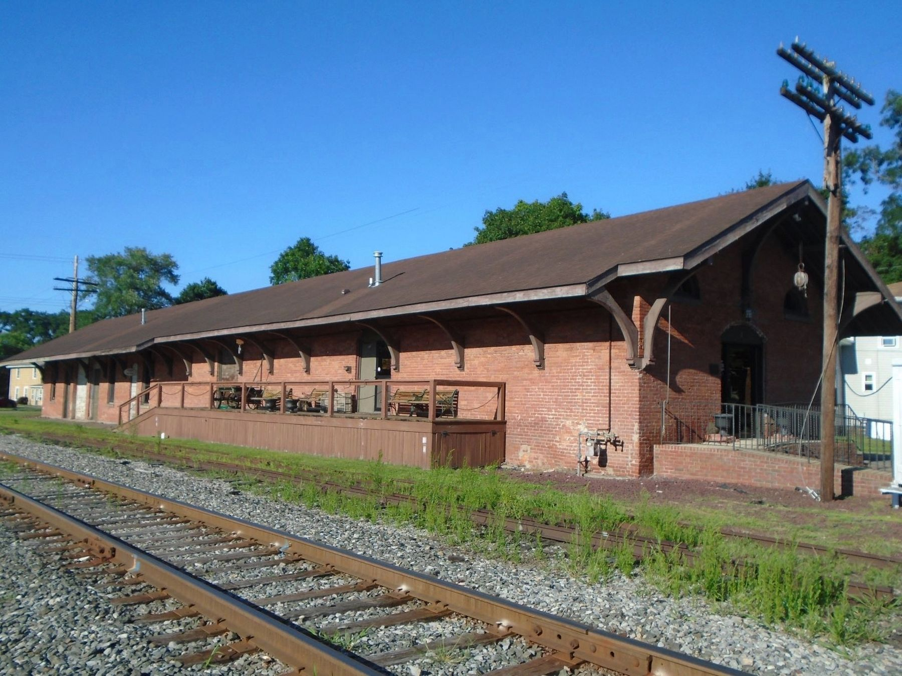 Chemung Railway Depot image. Click for full size.
