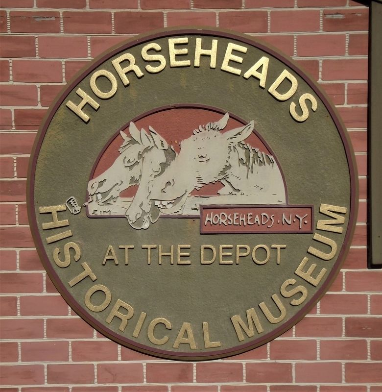 Horseheads Historical Museum Sign at Chemung Railway Depot image. Click for full size.