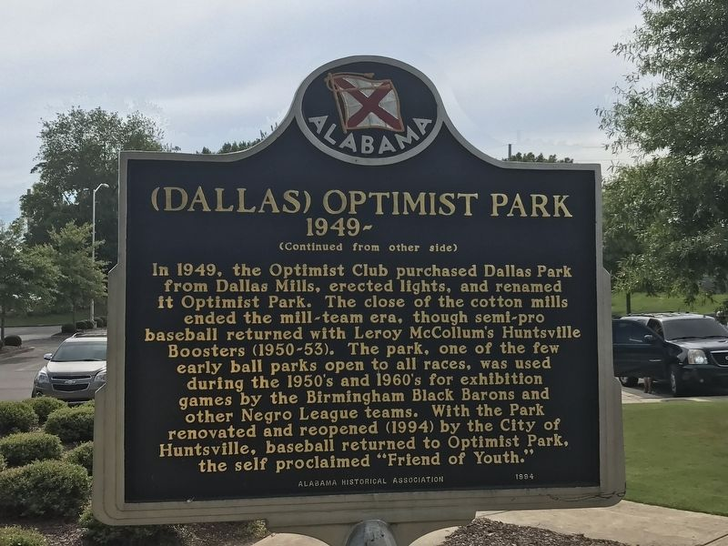 Dallas (Optimist) Park / (Dallas) Optimist Park Marker image. Click for full size.