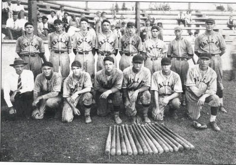 1930 Dallas Mill baseball team image. Click for full size.
