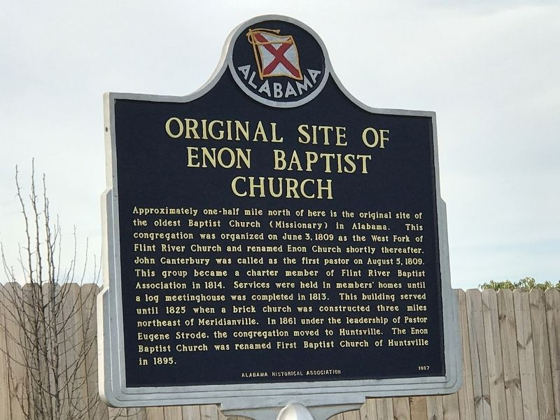 Original Site of Enon Springs Church Marker image. Click for full size.