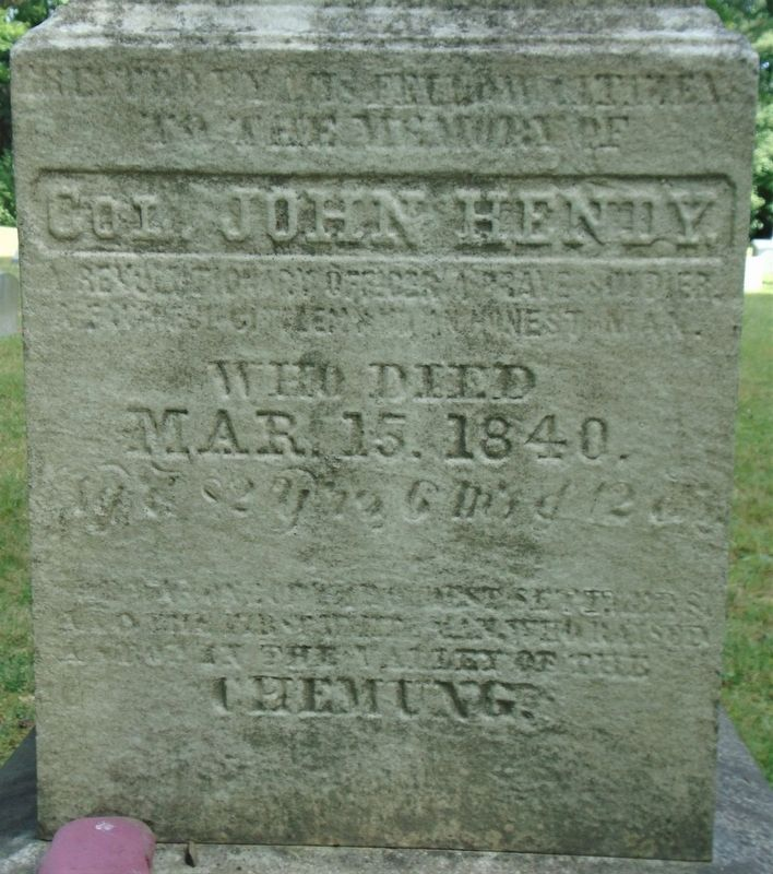Colonel John Hendy Marker image. Click for full size.