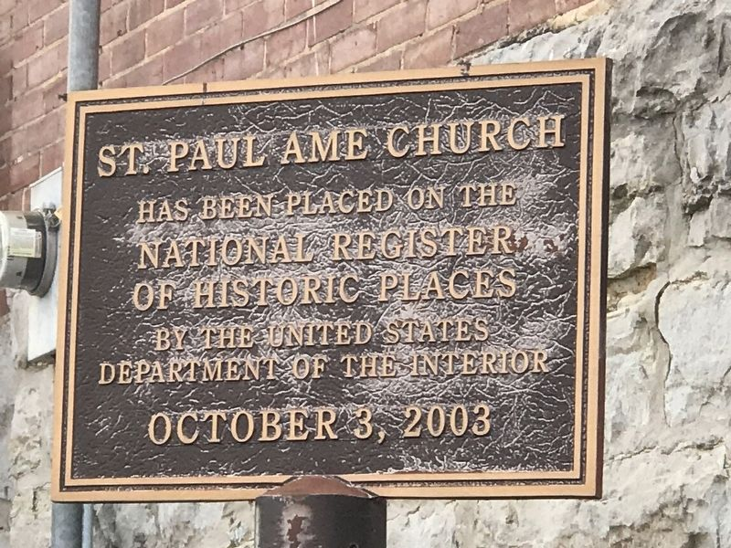 St. Paul AME Church Marker image. Click for full size.