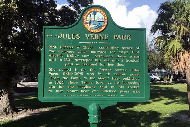 (Formerly) Jules Verne Park Marker image. Click for full size.