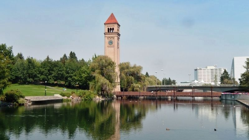 Great Northern Railroad Spokane Depot Clock Tower image. Click for full size.