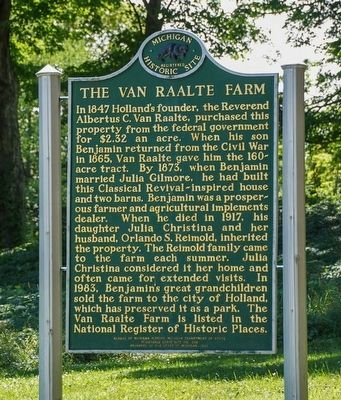 The Van Raalte Farm Marker image. Click for full size.
