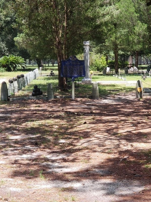 Confederate Rest Cemetery Marker image. Click for full size.