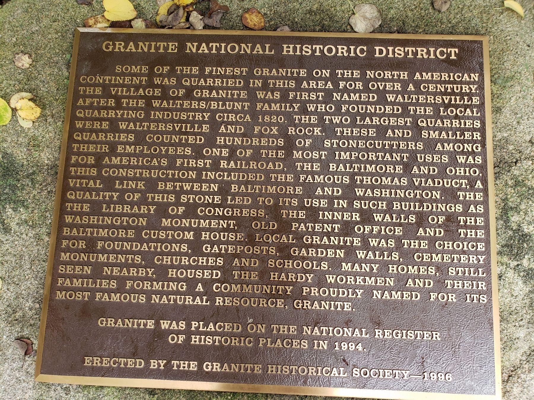 Granite National Historic District Marker image. Click for full size.
