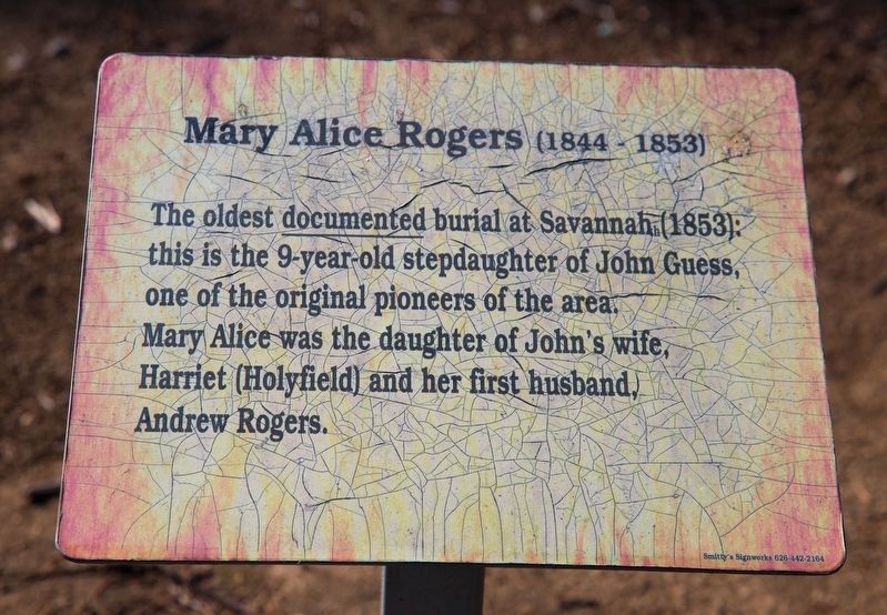 Mary Alice Rogers Marker image. Click for full size.