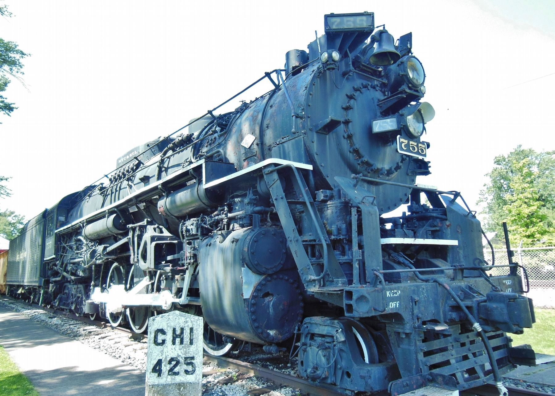 Nickel Plate Road Berkshire Locomotive No. 755 image. Click for full size.