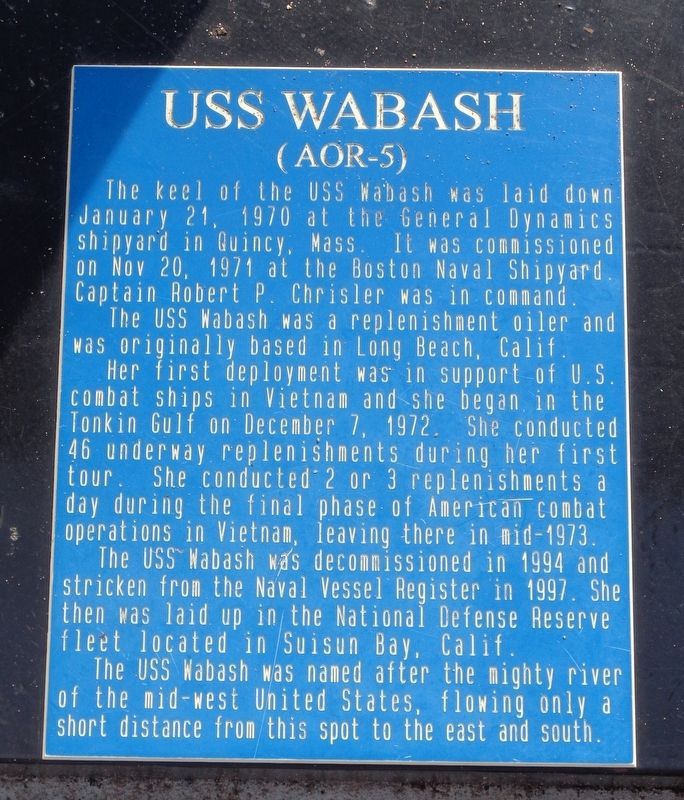 USS Wabash Marker image. Click for full size.